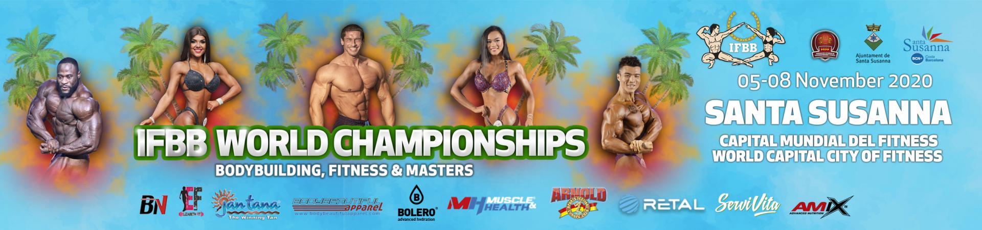 Banner ifbb world bodybuilding fitness master championhips 2020